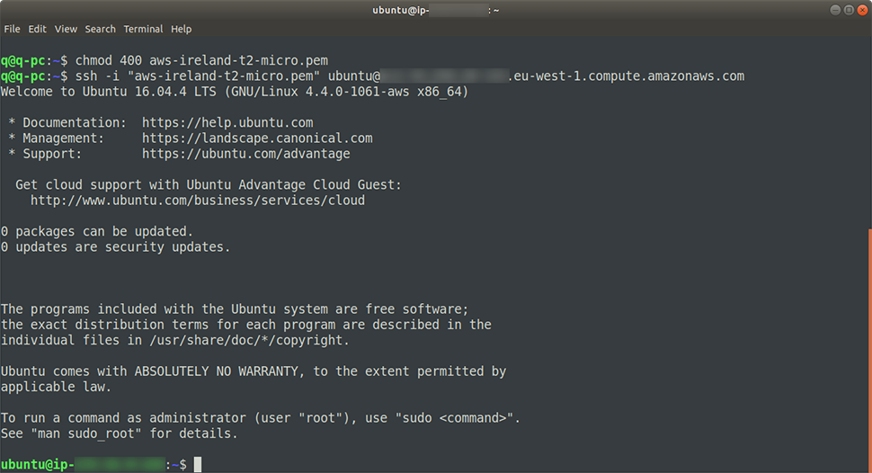 Ubuntu Server w terminalu